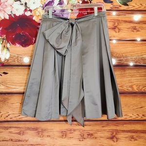 Yves Saint Laurent 2010 Gray Pleated Skirt